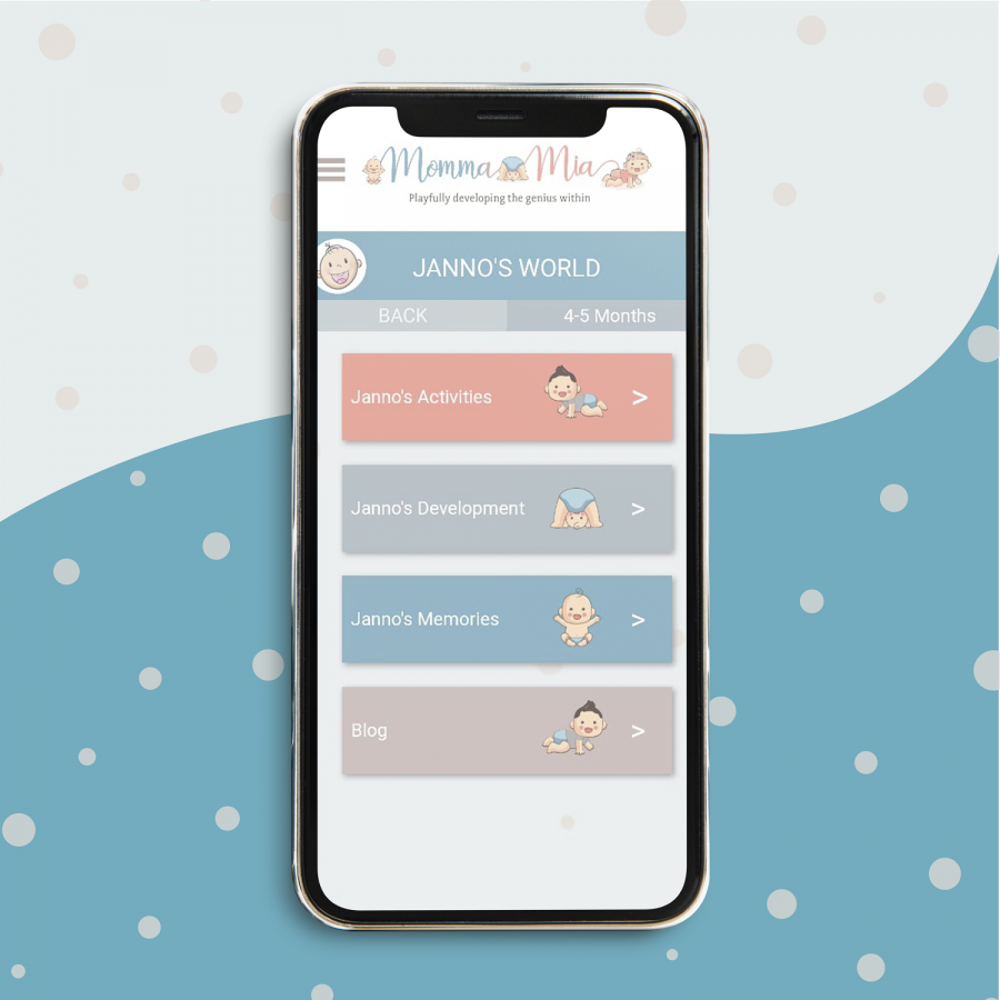 MommaMia Online App for Mothers